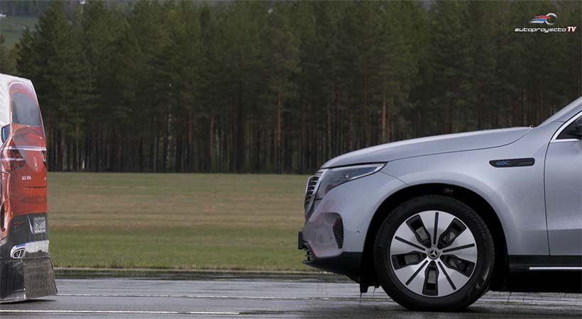 Video Mercedes-Benz EQC 2020 con Active Safety Technology