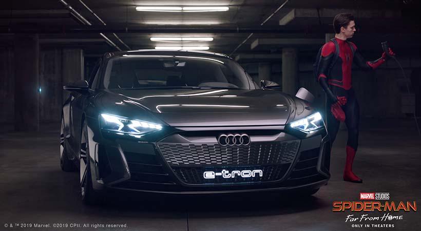 Audi e-tron y Spider-Man se unen en el estreno de Far From Home