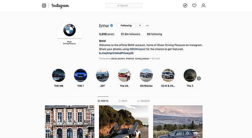 Top 15 marcas de autos en Instagram