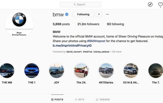 Top 15 marcas de autos en Instagram