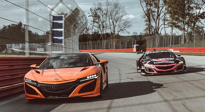 Acura NSX vs Acura NSX GT3 Evo, mucho más cerca de lo que imaginas