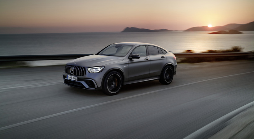 video mercedes amg glc    en el autobahn