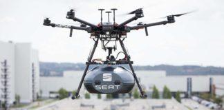 SEAT entregará volantes y airbags con drones en su fábrica