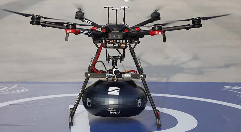 SEAT entregará volantes airbags por medio de drones