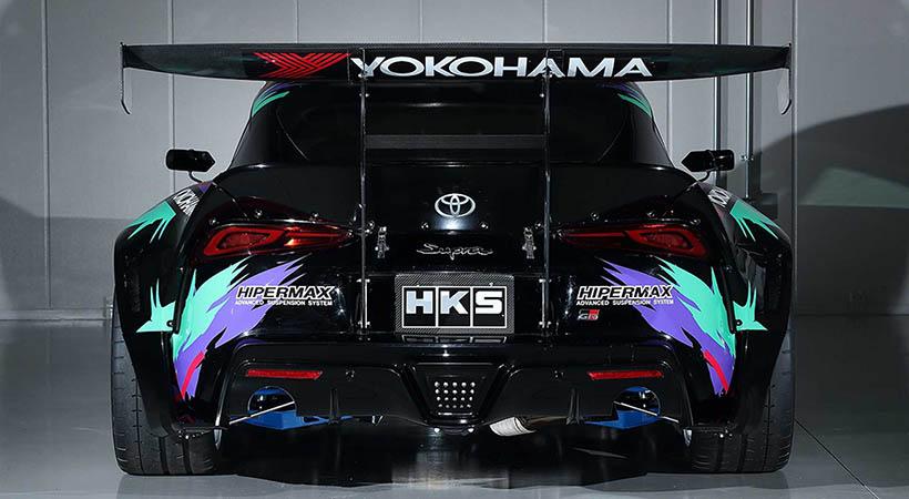 Toyota GR Supra Drift by HKS, derrapando en Goodwood