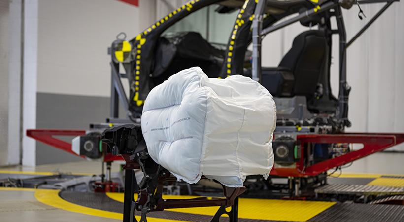 La nueva bolsa de aire Honda con innovadora tecnología fue diseñada para proteger mejor a los pasajeros del asiento delantero