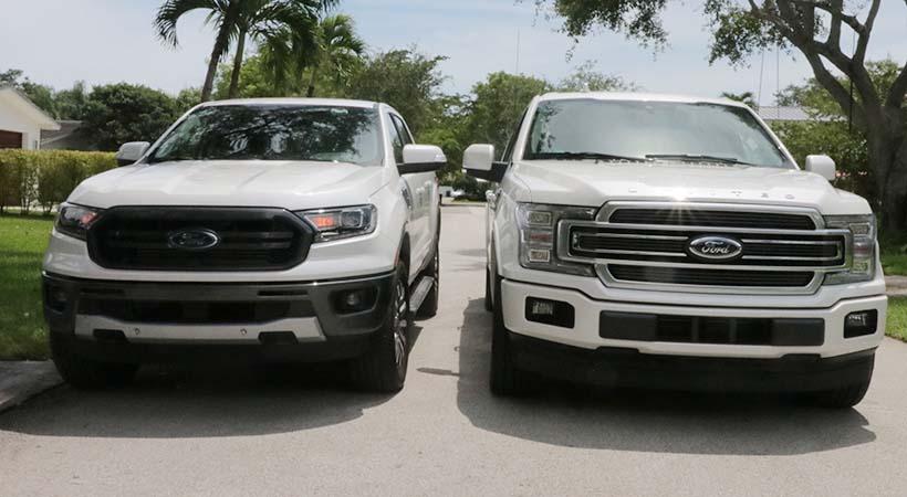 Ford F-150 vs Ford Ranger