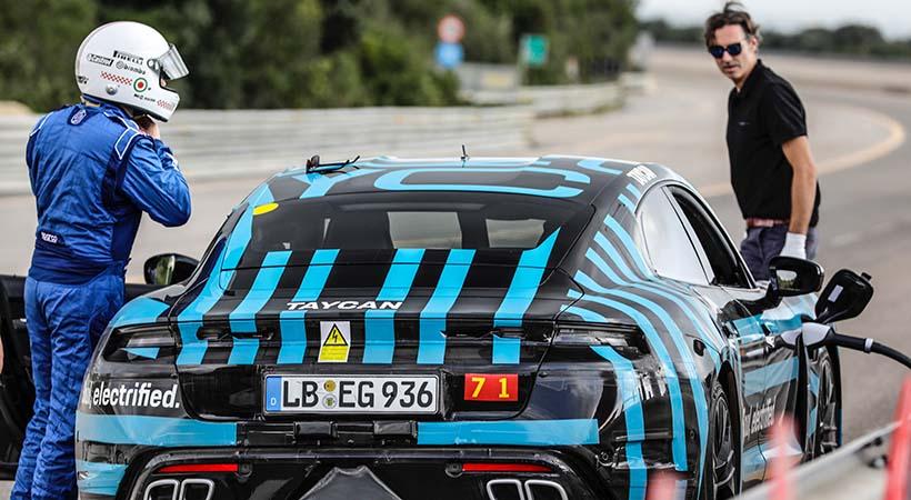Test Drive Prototipo Porsche Tycan