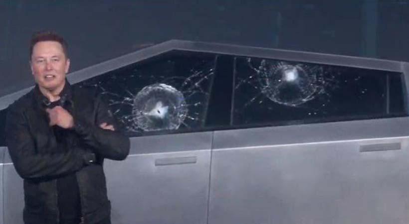 cristales de la Tesla Cybertru