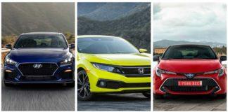 comparativa Honda Civic, Toyota Corolla y Hyundai Elantra GT
