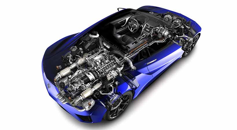 motor del Acura NSX 2020