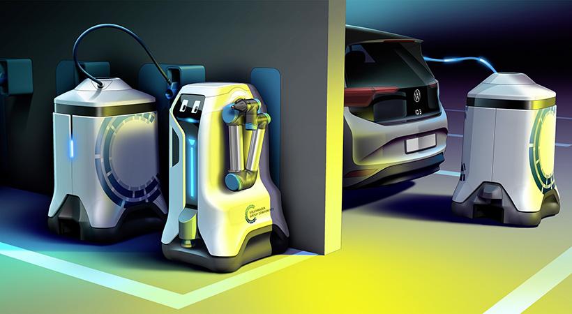robot de carga móvil de Volkswagen