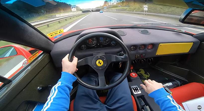 Ferrari F40 con escape directo