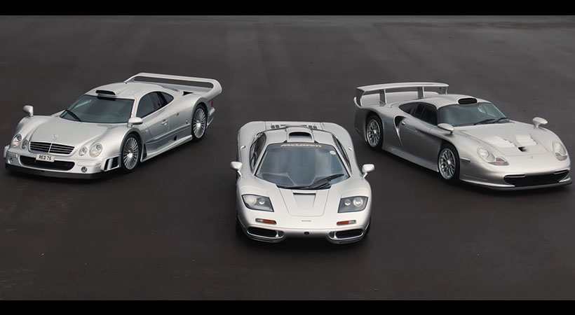 McLaren F1 vs Porsche 911 GT1 vs Mercedes CLK GTR